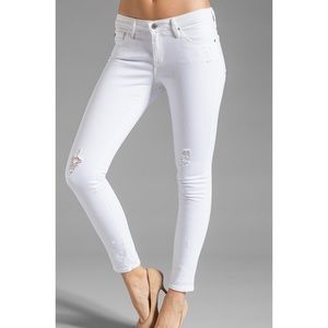 AG Adriano Goldschmied White Legging Ankle Jeans